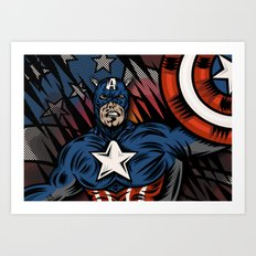 Captaino Americano Art Print
