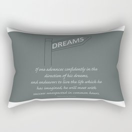 Go Confidently in the Direction of your Dreams – Inspirational Poster Rectangular Pillow