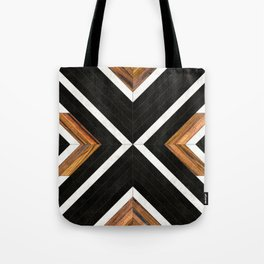 Urban Tribal Pattern 1 - Concrete and Wood Tote Bag