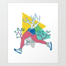 Run like a deer Art Print
