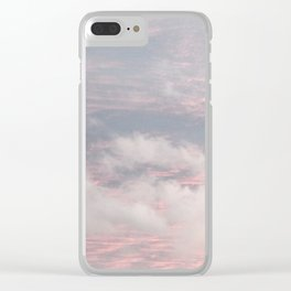 Cloud layers of Pink Clear iPhone Case