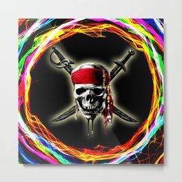 skull of pirates Metal Print