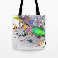 orca Tote Bags featuring Orca by Archan Nair