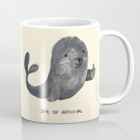 budi Mugs featuring Seal Of Approval by Picomodi