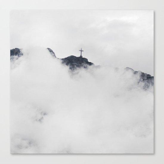 Foggy Faith Canvas Print