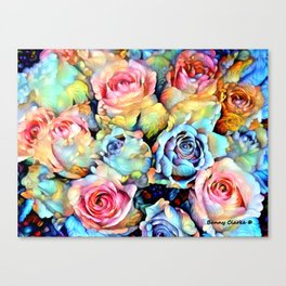 For Love of Roses Canvas Print