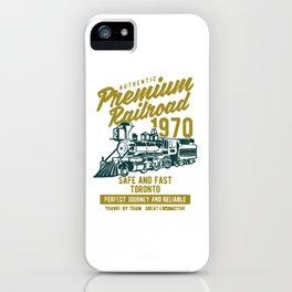 premium railroad iPhone Case