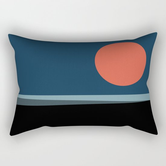 Super Moon over the Sea Rectangular Pillow