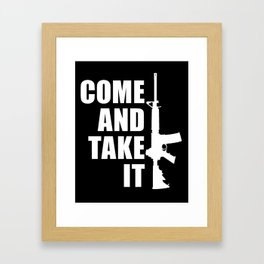 Come and Take it with AR-15 inverse Framed Art Print