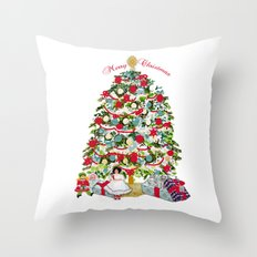 Underneath the Christmas Tree Throw Pillow