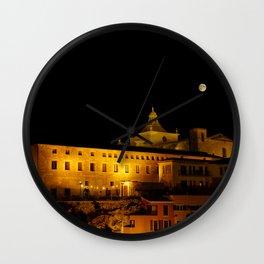 Cloister and church of Carmen at night - Mahon, Menorca Wall Clock