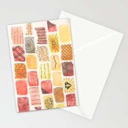 Mini Swatch Ink Sketches Stationery Cards
