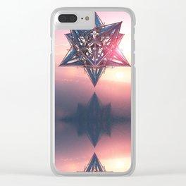 Thedron - Tetrahedron - Merkaba - Sacred Geometry - Manafold Art Clear iPhone Case