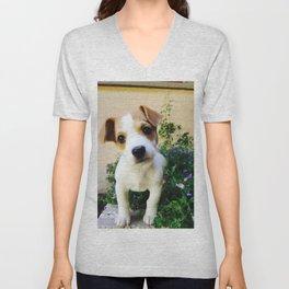 Cheeky Chappie Puppy Unisex V-Neck