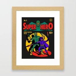 Superhero Comic Framed Art Print