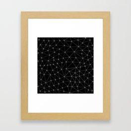 African Triangle Black Framed Art Print