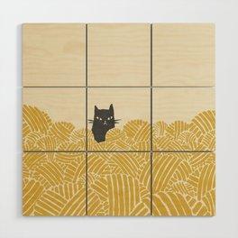 Cat and Yarn Wood Wall Art