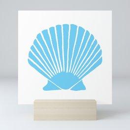 Light Blue Seashell Mini Art Print