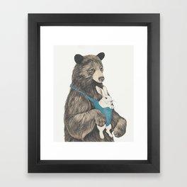 the bear au pair Framed Art Print