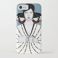 butterfly iPhone & iPod Cases featuring Mila by Sofia Bonati