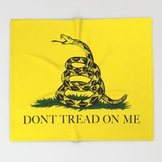 Gadsden Don't Tread On Me Flag, High Quality Throw Blanket