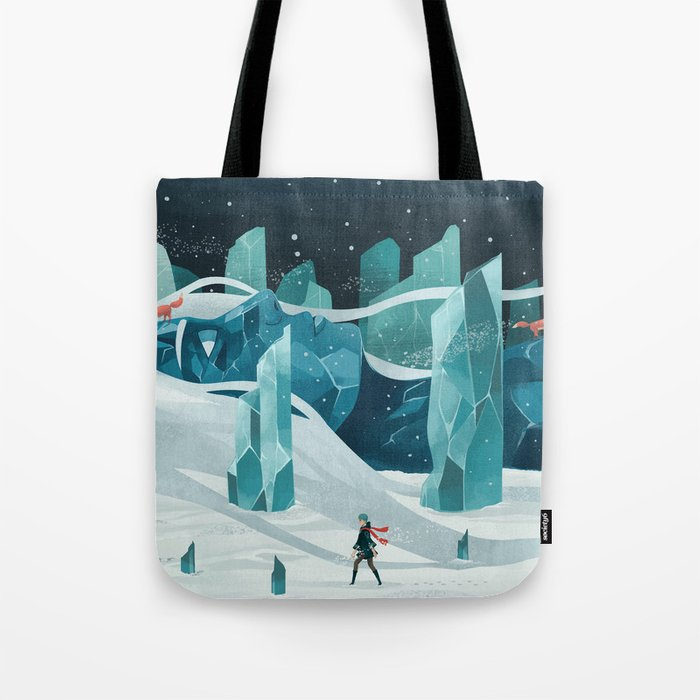 The wanderer and the ice forest Tote Bag