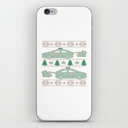 Police Christmas iPhone Skin