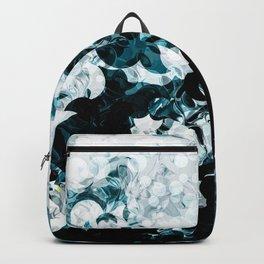 Modern Splash of Turquoise Black White Design Backpack