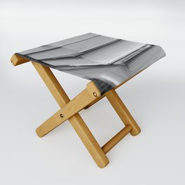 Stack of Books (in black and white) Folding Stool