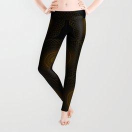 Golden geometry on black Leggings