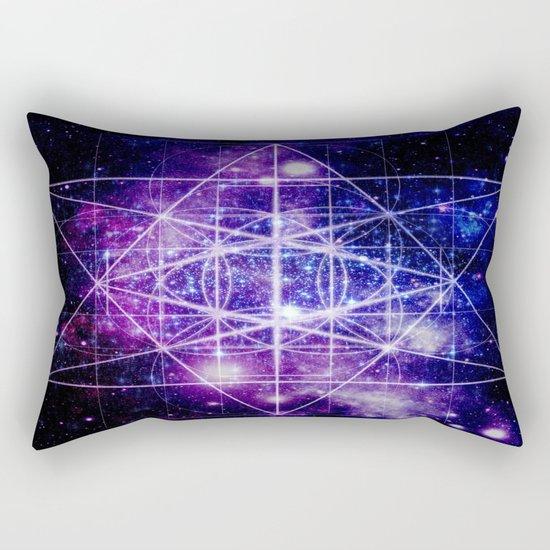 Flower of Life : Sacred Geometry Rectangular Pillow