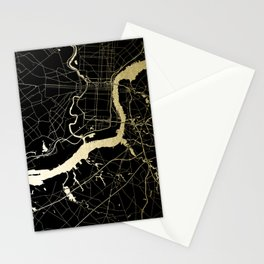 Philadelphia - Black and Gold Stationery Cards
