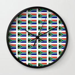 flag south africa 2,  African,Afrikaans,Mandela,apartheid, Johannesburg,Soweto,Pretoria,Durban,Tembi Wall Clock