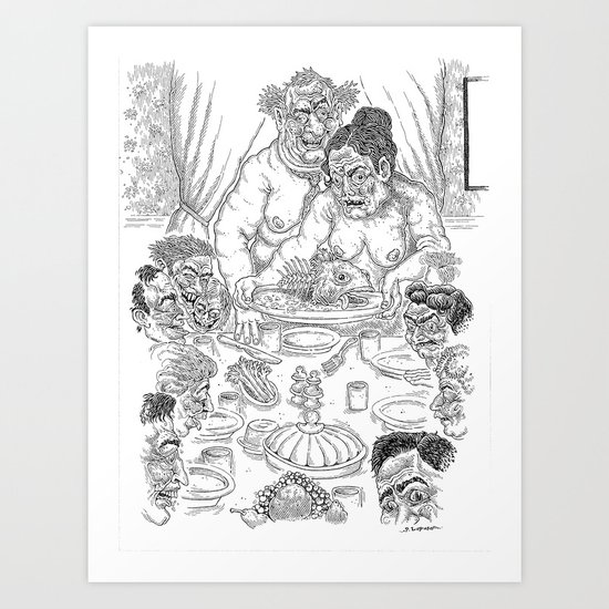 The Defamation of Normal Rockwell III (NSFW) Art Print