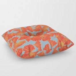 Tumbling Ginkgo Red Floor Pillow