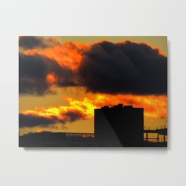 March Sunset in Portland, Maine (1) Metal Print