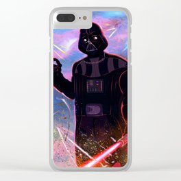 Darth Vader Print Clear iPhone Case