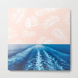 Peach Waves 2 Metal Print