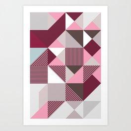 Scandi Geo Art Print