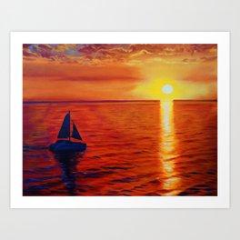 Sailing into Paradise Art Print
