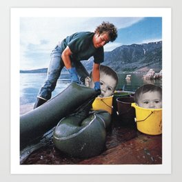 Went Diving For Pearls, Found Something Else Art Print