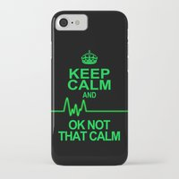 keep calm iPhone & iPod Cases featuring Keep Calm by Alice Gosling
