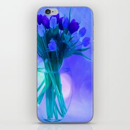 A Blue Bloom for Spring iPhone Skin