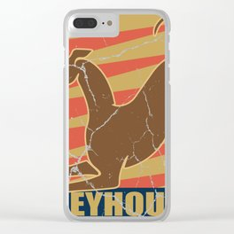 Greyhound dog gift greyhound pet animal Clear iPhone Case