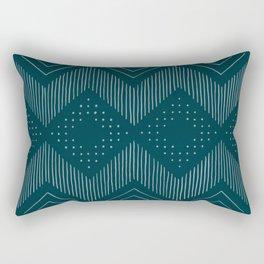 Teal Geo Rectangular Pillow