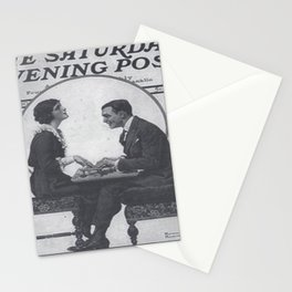 The Saturday Evening Post vintage cover - ft Fitzgerald Stationery Cards