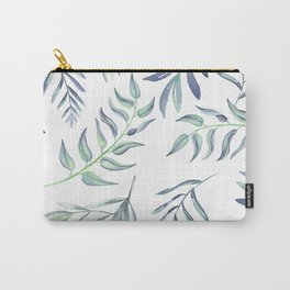 Floating Leaves Blue #society6 #buyart Carry-All Pouch