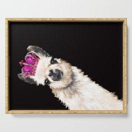 Llama Queen Serving Tray