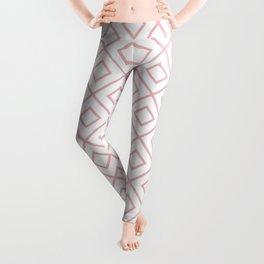Coral Diamond Pattern 2 Leggings