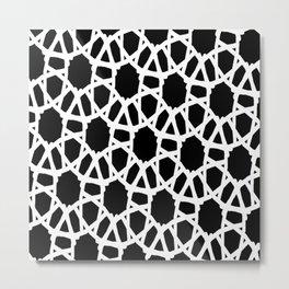 Blk white Crochet Metal Print